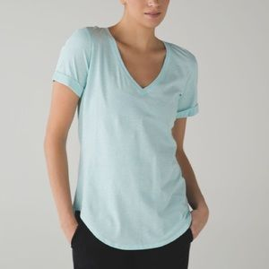 Lululemon Love tee rolled sleeve v-neck tee